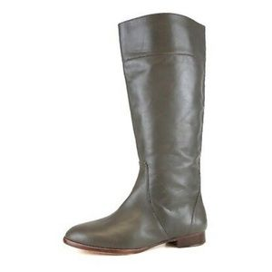 J.Crew Gray Booker Buckle Tall Leather Boots | 5.5